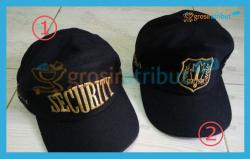 Topi Security Bordir Emas Laken